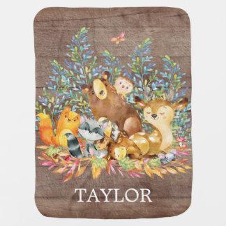 Personalisierter Waldjunge   Gir, das Decke