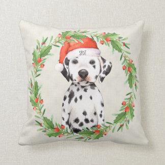 Personalisierter Weihnachtsfeiertags-Dalmatiner Kissen
