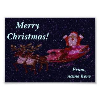 Personalisierter WeihnachtsFoto-Gruß mit Sankt Fotos