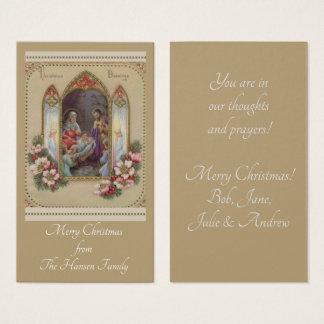 Personalisierter Weihnachtsnativity-heilige Karten