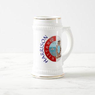 Personalisierter weißer bester Freund Stein mit Bierglas