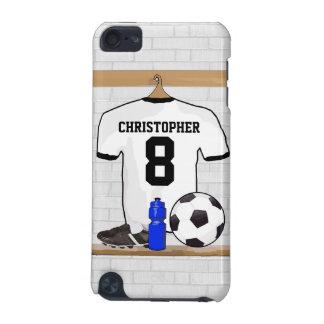 Personalisierter weißer schwarzer Fußball-Fußball iPod Touch 5G Hülle