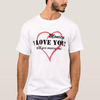 Personalisierter Wille heiraten Sie mich Shirt