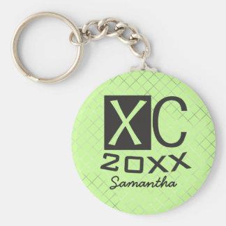 Personalisierter XC Keychain Querland-Betrieb Schlüsselanhänger