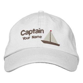 Personalisierter Yacht-Kapitän Bestickte Baseballkappe