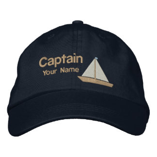 Personalisierter Yacht-Kapitän Bestickte Kappen