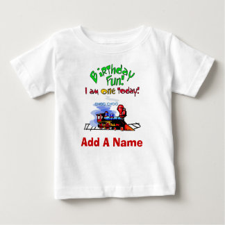 Personalisierter Zug-1. Geburtstags-T - Shirt