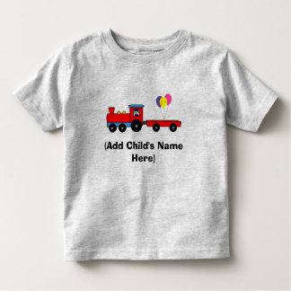 Personalisierter Zug-Geburtstags-T - Shirt