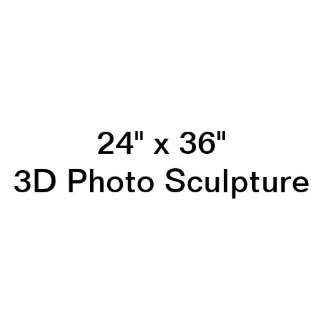 "Personalisiertes 24"" x 6"" Foto-Skulptur Freistehende Fotoskulptur"