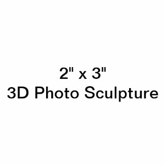 "Personalisiertes 2"" x 3"" Foto-Skulptur Freistehende Fotoskulptur"