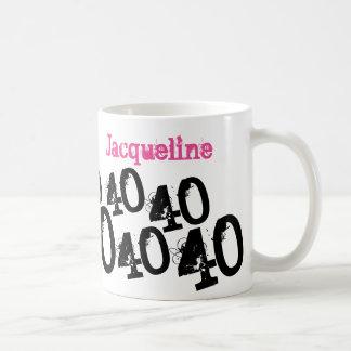 Personalisiertes 40. Geburtstags-Rosa Kaffeetasse