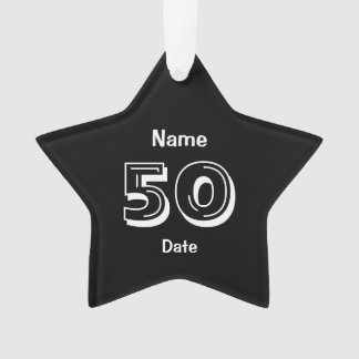 Personalisiertes 50. Geburtstags-Gag-Geschenk Ornament