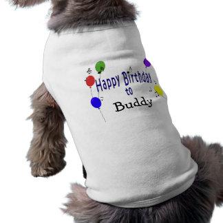 Personalisiertes alles- Gute zum Geburtstag… Lied Hund T Shirt