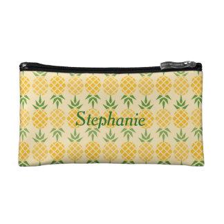 Personalisiertes Ananas-Muster Kosmetiktasche