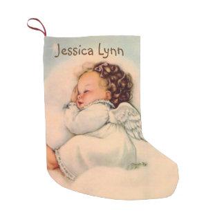 Personalisiertes Baby, das Engel Doppeltes Wings, Kleiner Weihnachtsstrumpf