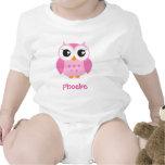 Personalisiertes Baby des niedlichen rosa T Shirts