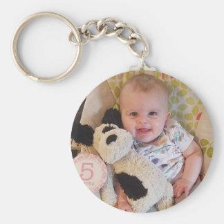 Personalisiertes Baby-Foto-Schlüsselkette Schlüsselanhänger