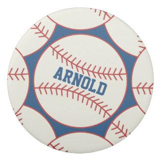 Personalisiertes Baseball-Radiergummi-Muster-Blau Radiergummi