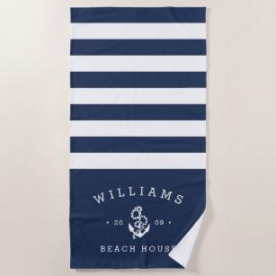 Personalisiertes Beach House Strandtuch