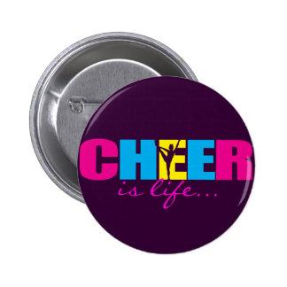Personalisiertes Beifall Cheerleading lila Runder Button 5,1 Cm