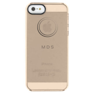 Personalisiertes blasses GoldiPhone 5 klarer Durchsichtige iPhone SE/5/5s Hülle