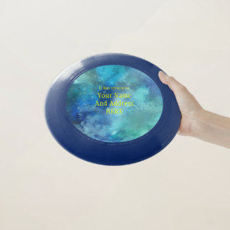 Personalisiertes Blau farbiger Frisbee