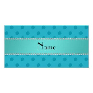 Personalisiertes blaues Erdbeernamensmuster Bilderkarten