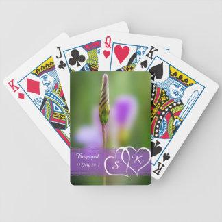 Personalisiertes Blumen-Verlobungs-Andenken Bicycle Spielkarten