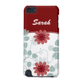 personalisiertes Blumenrot iPod Touch 5G Hülle