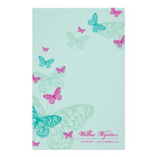PERSONALISIERTES BRIEFPAPIER:: Schmetterlinge 5P Individuelle Druckpapiere