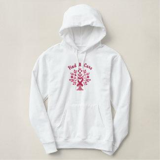 Personalisiertes Brustkrebs-Band-Baum-Sweatshirt Bestickter Hoodie