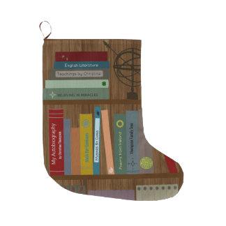 Personalisiertes Bücherregal Großer Weihnachtsstrumpf