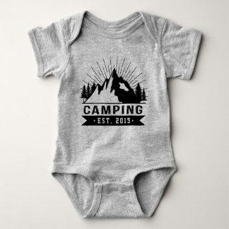 Personalisiertes Camping Baby Strampler