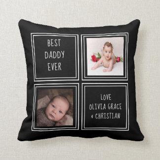Personalisiertes einer netten zwei Foto-Schablone Kissen