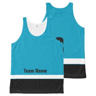 Personalisiertes Eis-Hockey-Team färbt Komplett Bedrucktes Tanktop