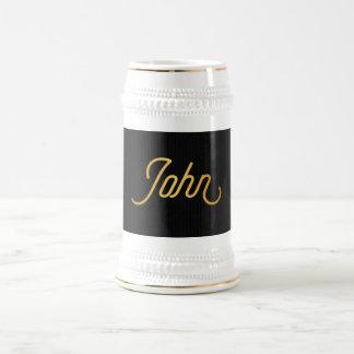 Personalisiertes elegantes bierglas