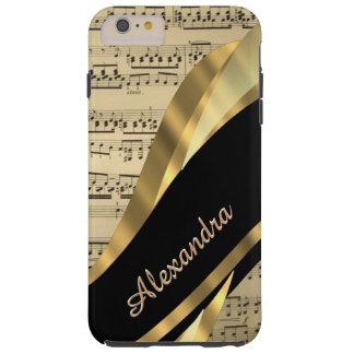Personalisiertes elegantes Musikblatt Tough iPhone 6 Plus Hülle