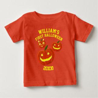 Personalisiertes erstes Halloween Baby T-shirt