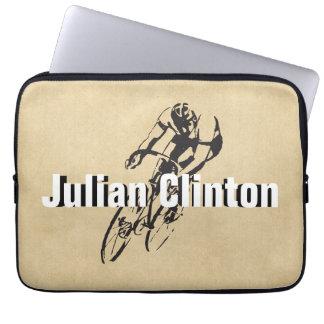Personalisiertes Fahrrad-Laufen Laptop Sleeve