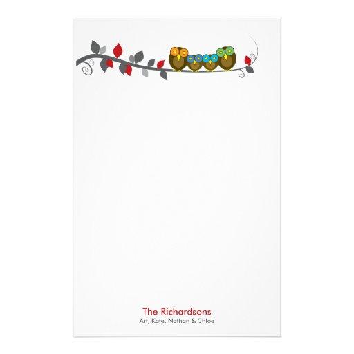 Personalisiertes Familien-Briefpapier Personalisiertes Druckpapier