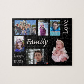 Personalisiertes Familien-Foto-Puzzlespiel Puzzle