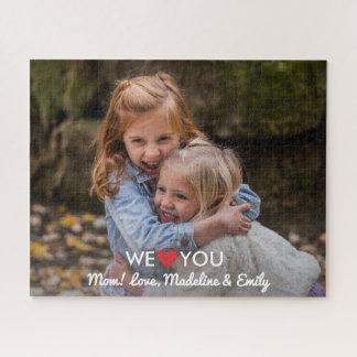Personalisiertes Familien-Foto wir Liebe Sie Mamma Puzzle