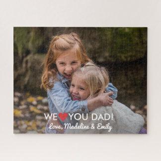 Personalisiertes Familien-Foto wir Liebe Sie Vati Puzzle