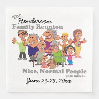 Personalisiertes Familien-Wiedersehen-lustiger Papierservietten