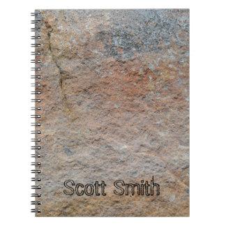 Personalisiertes Felsen-Gesichts-Notizbuch Notizblock