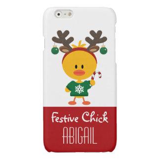 Personalisiertes festliches Küken-Weihnachten