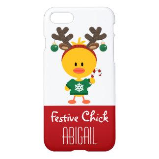 Personalisiertes festliches Küken-Weihnachten iPhone 7 Hülle