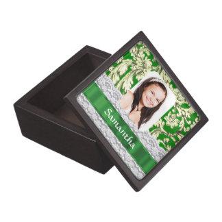 Personalisiertes Foto der grünen Spitzes Kiste
