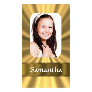 Personalisiertes Foto des Goldblickes Visitenkartenvorlage