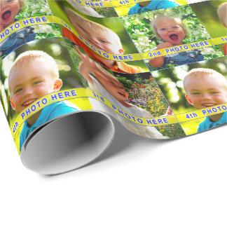 Personalisiertes Foto-Verpackungs-Papier IHRE 4 Geschenkpapier